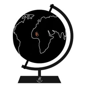 graphic of a globe showing the worldwide inclusivity of conference and chill